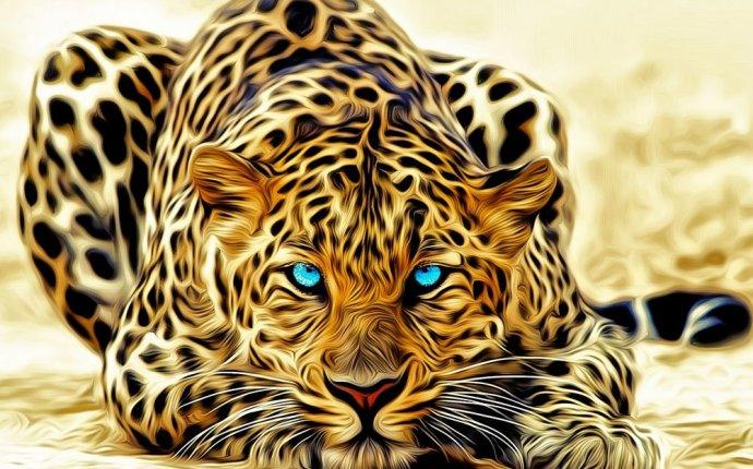 Обои леопарды природа рисунки (25 обоев)
